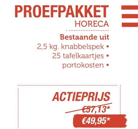 Proefpakket Horeca